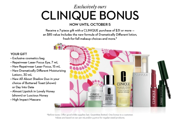 Last Day for Clinique Bonus @ The Bay!